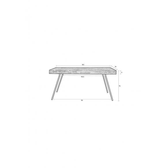 Table Suri 160X78 Black