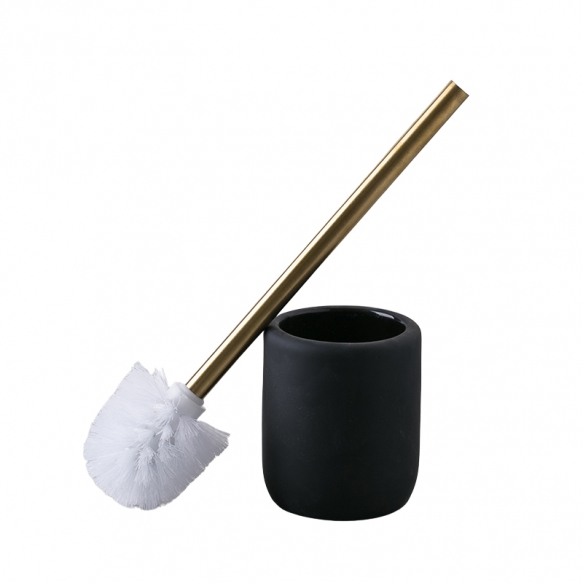 toilet brush Andrea, mat black + gold