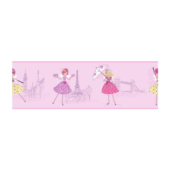 Hoopla Vintage Fairies Border Lilac