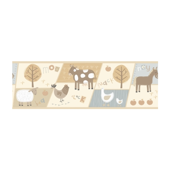 Hoopla Farm Animal Border Neatral