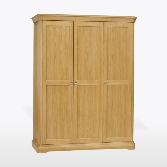 3 uksega sahtlitega riidekapp