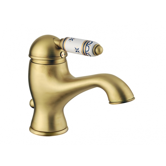 basin mixer with pop-up,raw brass