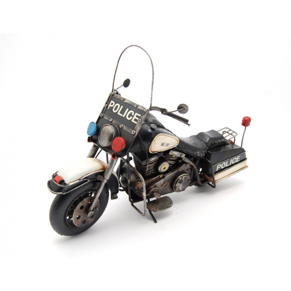 Decoration Police motorcycle, 36x15x24cm