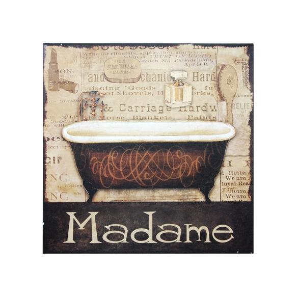 Wall deco Madame 30x30cm