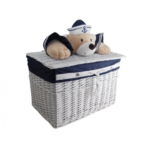 Basket Captain Bear XL h40 x57x38cm