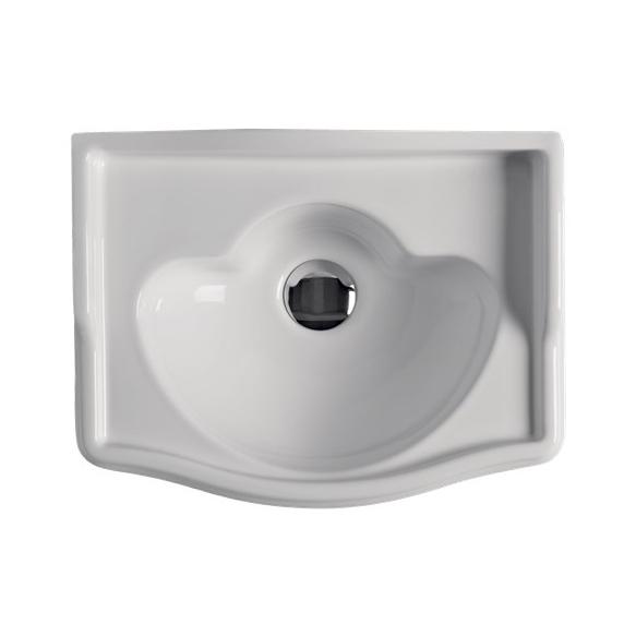 RETRO One hole washbasin 41x32 cm, no faucet hole