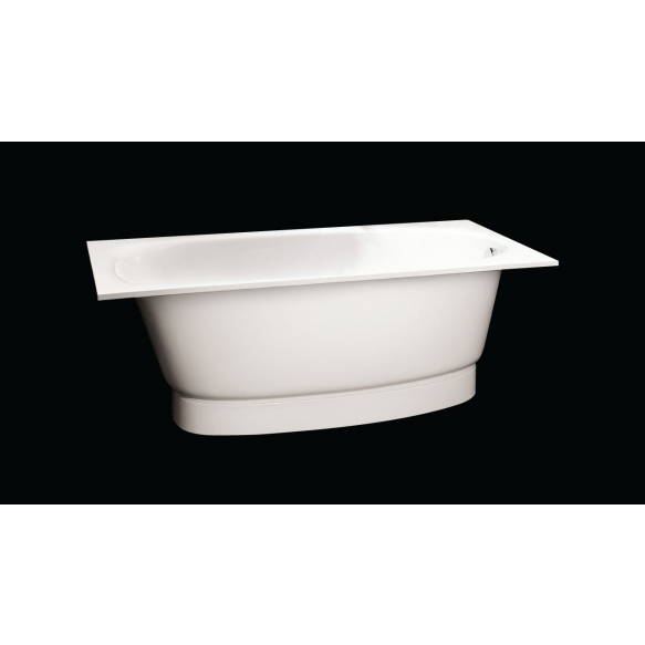 Cast stone bath UNA, no panel and siphon, 150x75 cm