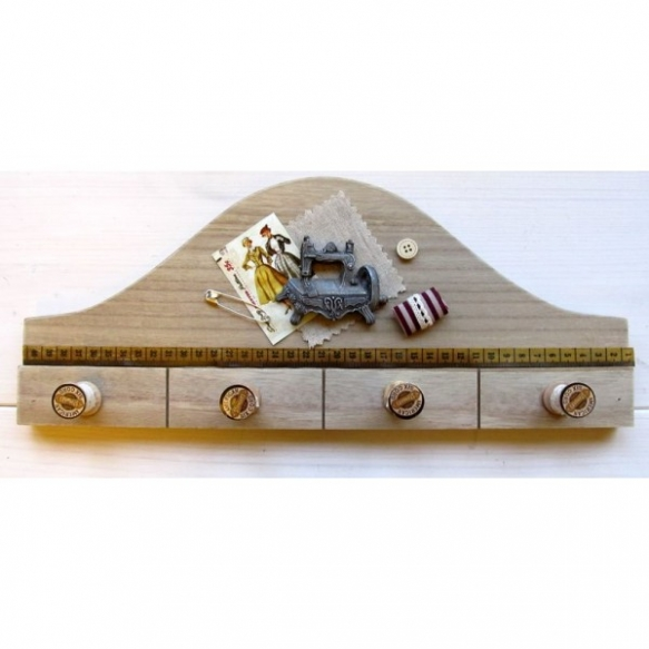 wooden hook with knobs