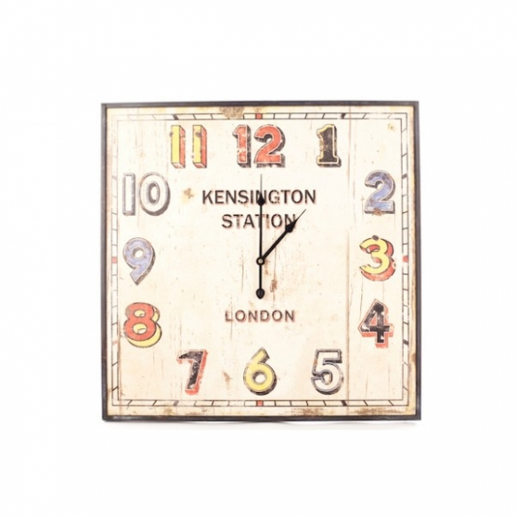 LRG KENSINGTON SQUARE WALL CLOCK