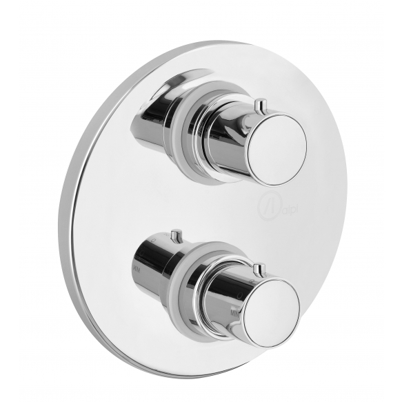 """CONCEALED THERMOSTATIC SHOWER VALVE """"COOL"""" WITH TWO OUTLETS CERAMIC DIVERTER AND STOP"""