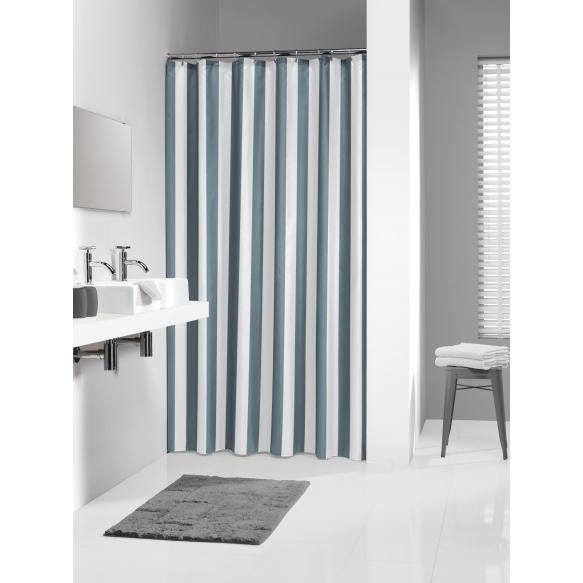 LINJE shower curtain textile, grey, 180x200cm