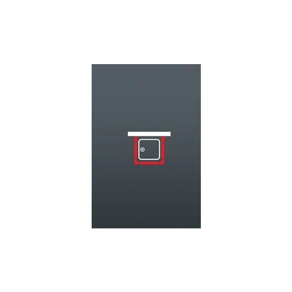 Kombineeritav dušikardinatoru, 90x90x80 cm, diam 28 mm, kroom