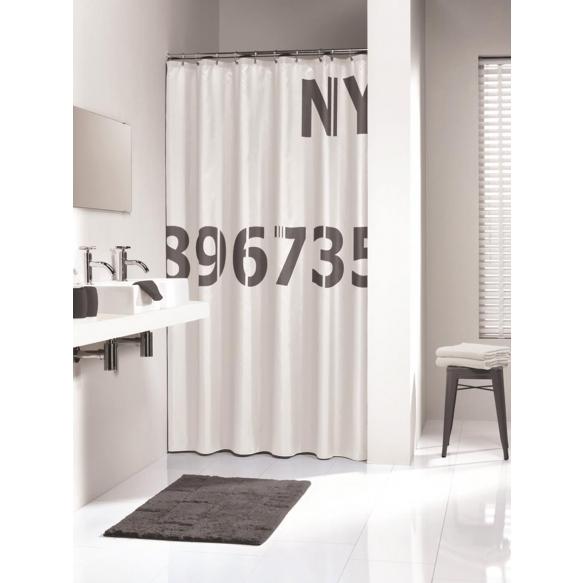 DIGITS shower curtain textile, antracite, 180x200