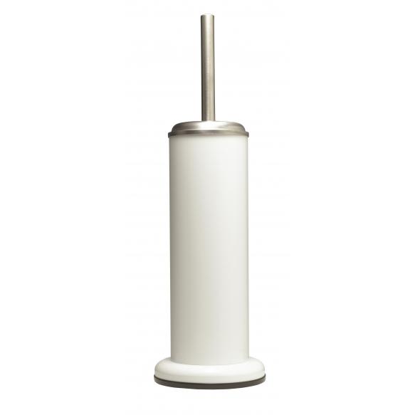 ACERO metal  toilet brush and holder, white