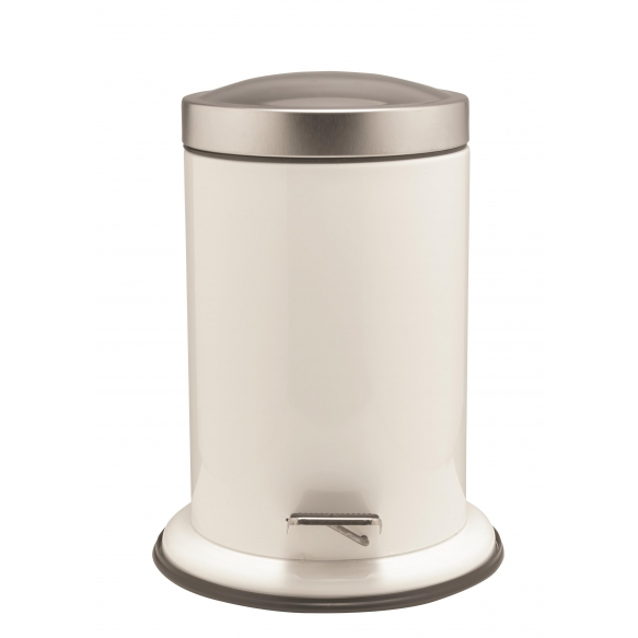 ACERO metallist prügikast, valge