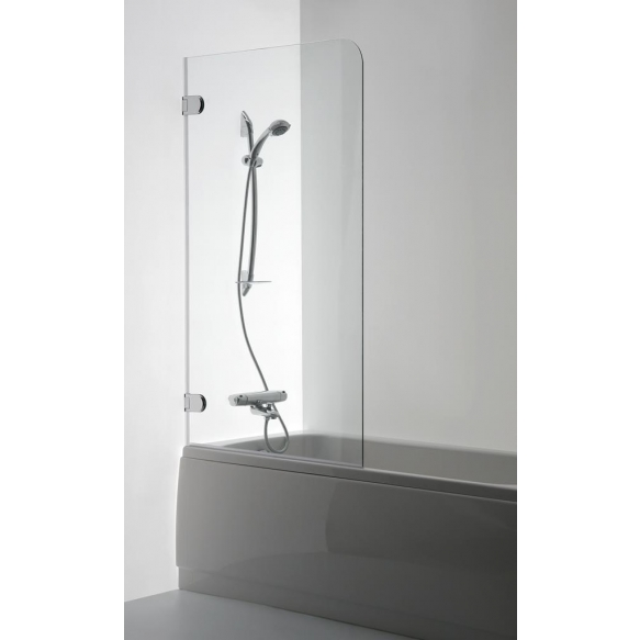 Bath screen MEDA , clear glass