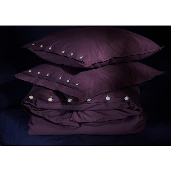 Pillow case Eggplant 50x60 cm, 100% cotton percale