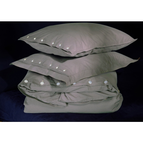 Pillow case Taupe 50x60 cm, 100% cotton percale