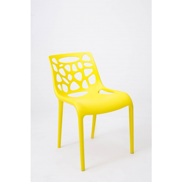design chair,stackable,yellow