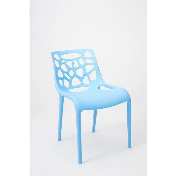 design chair,stackable,blue