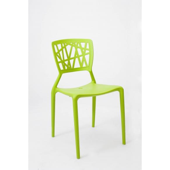 design chair,stackable,green