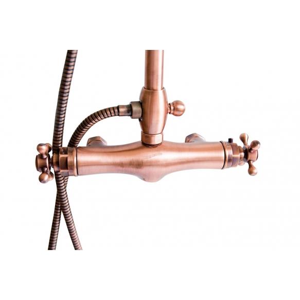 thermostatic rain shower mixer, copper