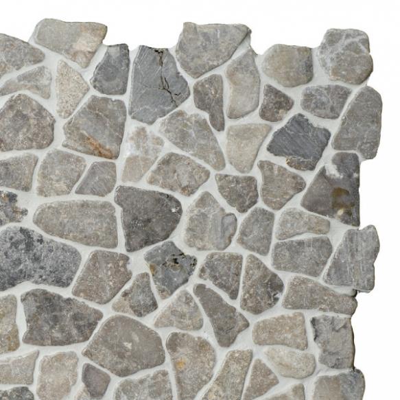 Mosaic marble Light Grey Interlock