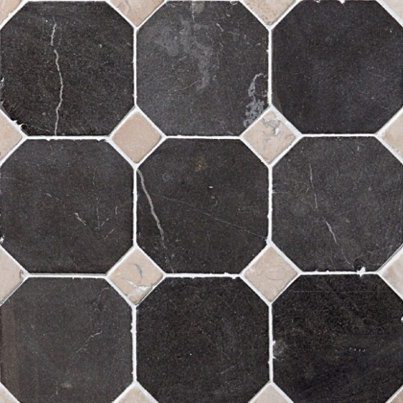 Classic Pattern 100x100mm Grey-White