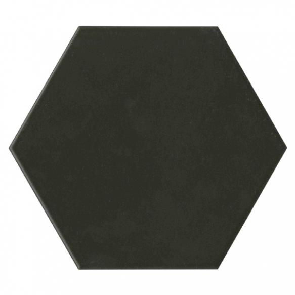 Hexagon Black, glasuuritud täismassplaat (imab vähe vett, sobib avalikesse ruumidesse,lihtne hooldada)
