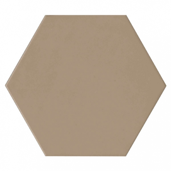 Hexagon Brown, glazed porcelain tile, suitable for public use