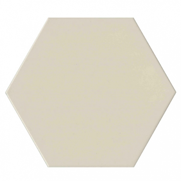 Hexagon White, glazed porcelain tile, suitable for public use