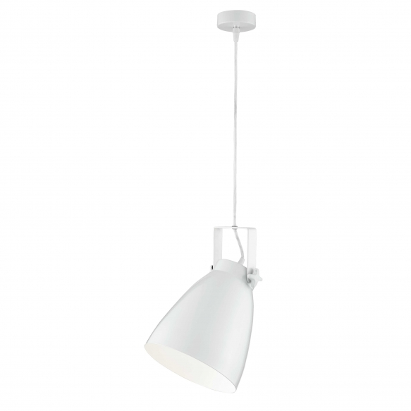 metallist laelamp, valge, E27 1X40W