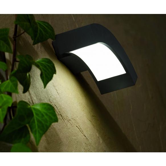 NEO LED õuevalgusti seinale, tumehall, alumiinium,4w LED lamp on komplektis