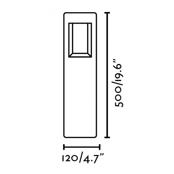 NAVA LED õuevalgusti, tumehall, alumiinium, h 50 cm,6w LED lamp on komplektis