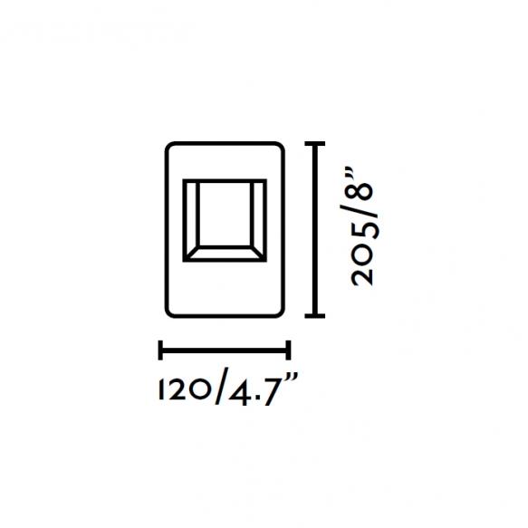 NAVA LED õuevalgusti, tumehall, alumiinium, h 20 cm,6w LED lamp on komplektis