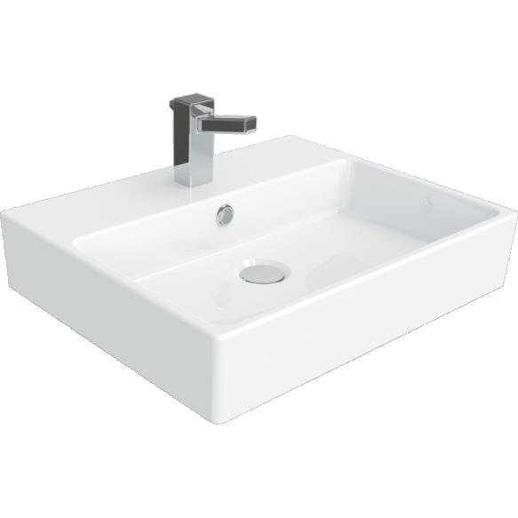 worktop wahbasin Nexus 40x50 cm, white