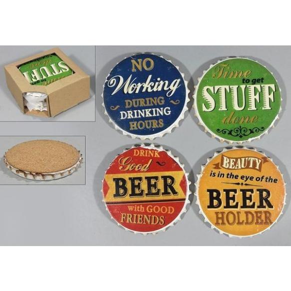 keraamilised joogiklaasi alused Beer, 4 tk