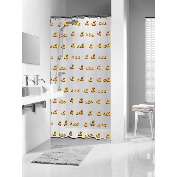 shower curtain Duckling, vinyl, yellow