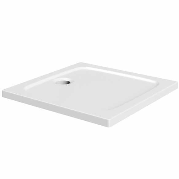 90x90 stone shower tray, white,incl front panel, feet and waste S0004+S0509+1711C+S0506