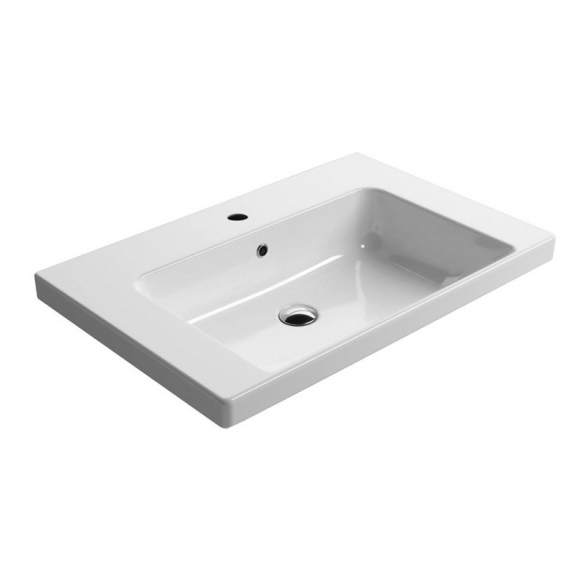NORM ceramic washbasin 75x18x50cm