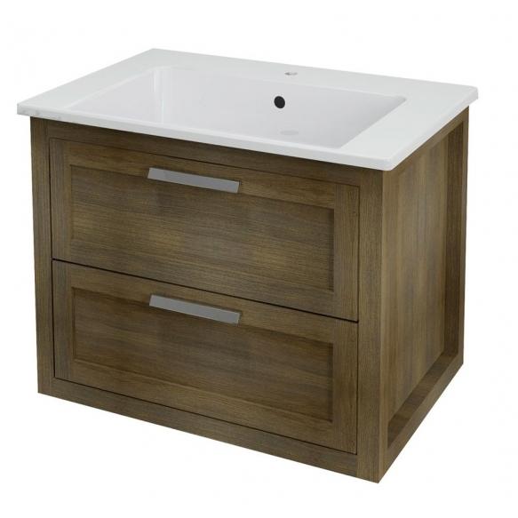 LARITA vanity unit 71x55x48cm,oak graphite