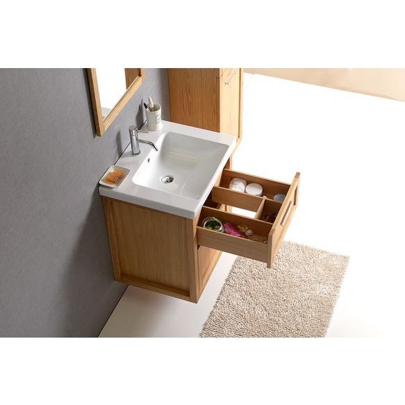 LARITA vanity unit 56x65x48cm,oak graphite