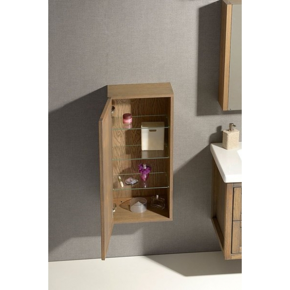 LARITA storage cabinet 40x90x25cm, left-right, oak graphite