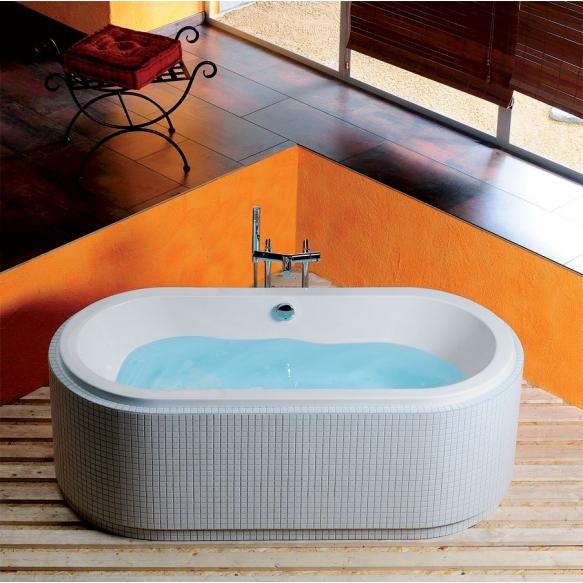 oval Bath tub with support legs 175x80 cm