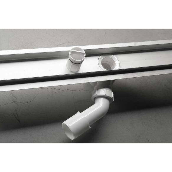 Stainless steel shower drain with grid Bucanera, 800x110mm