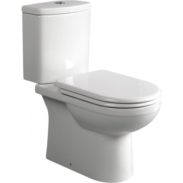 wc compact, universal trap, bottom fill tank, seat not included, dual flush