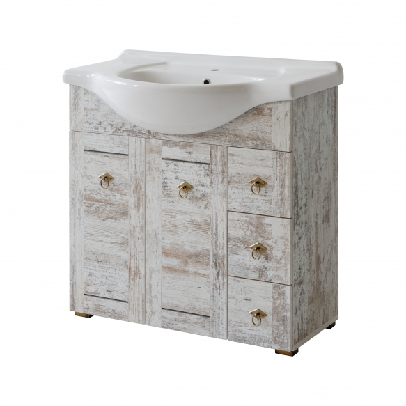 cabinet under washbasin Provence 85 cm (2D3S), basin not included