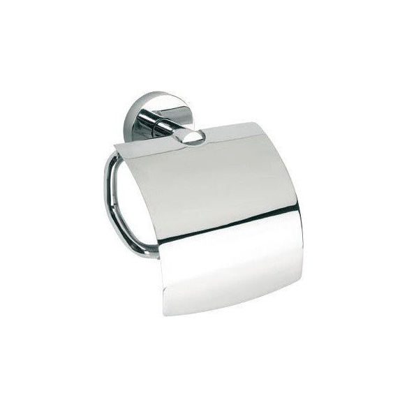 OMEGA E Toilet paper holder with cover, chrome