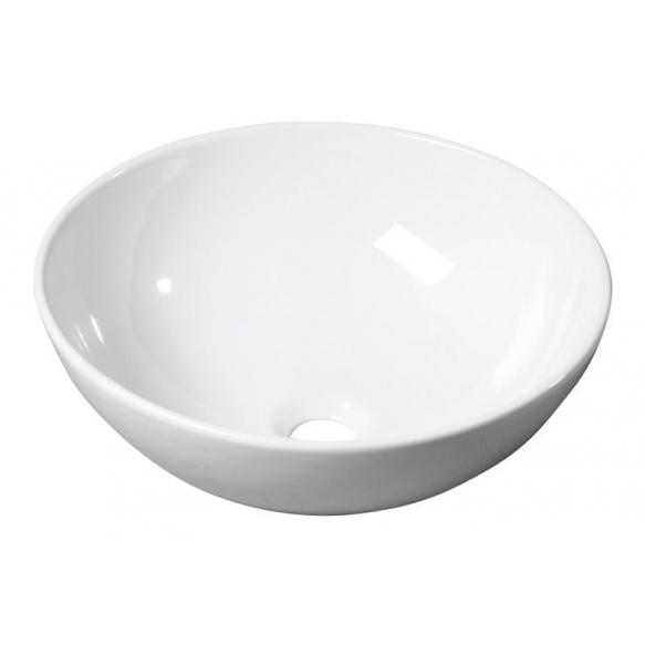 Rondane ceramic washbasin, diameter 40 cm, top counter