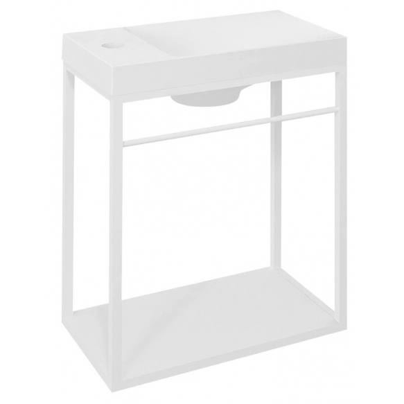 metallist valamukonstruktsioon Crest 40x45x22 cm, MDF riiuliga, matt valge